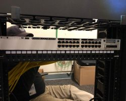 data cabling and installation of switches and video surveillance